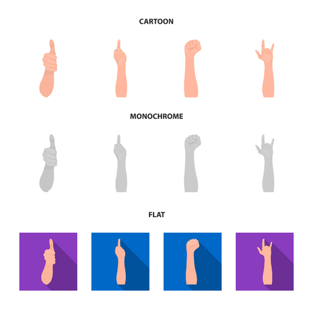 Sign Language cartoon,flat,monochrome icons in set collection for design.Emotional part of communication bitmap symbol stock web illustration.