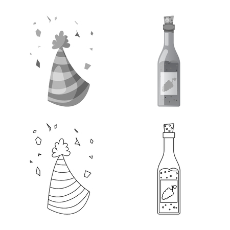 Vector design of party and birthday symbol. Collection of party and celebration vector icon for stock.