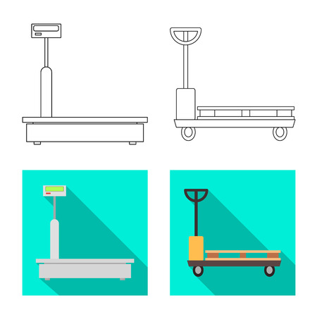 Vector illustration of goods and cargo icon. Set of goods and warehouse stock symbol for web.