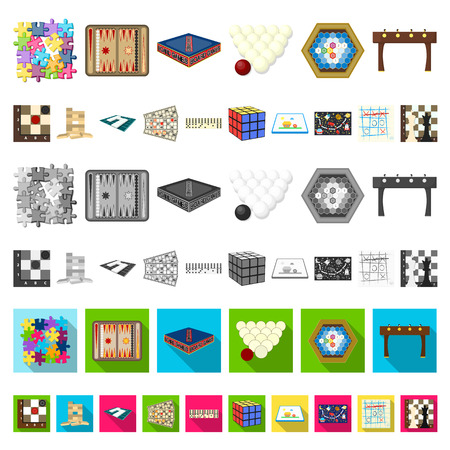 Board game cartoon icons in set collection for design. Game and entertainment vector symbol stock illustration. Stock Vector - 109542284