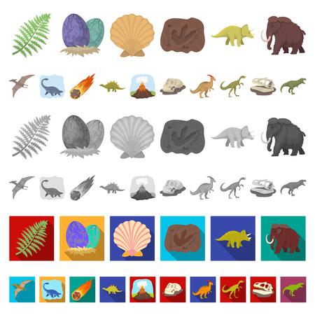 Différentes icônes de dessin animé de dinosaures dans la collection de jeu pour la conception. Illustration de stock web symbole vecteur animal préhistorique.