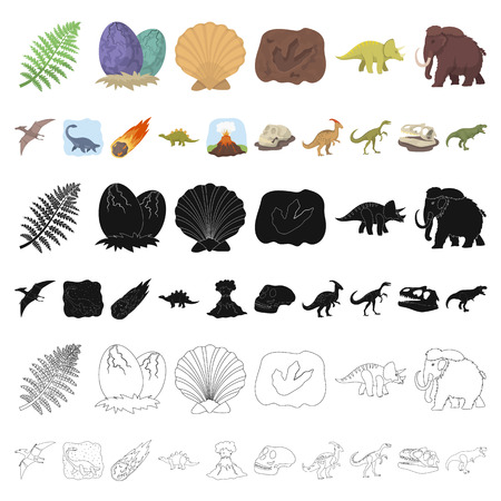Different dinosaurs cartoon icons in set collection for design. Prehistoric animal vector symbol stock  illustration.