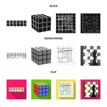 Board game black, flat, monochrome icons in set collection for design. Game and entertainment bitmap symbol stock web illustration. Stok Fotoğraf