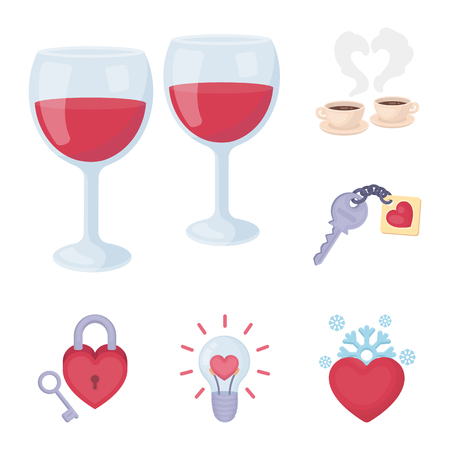 Romantic relationship cartoon icons in set collection for design. Love and friendship bitmap symbol stock web illustration. Stock fotó