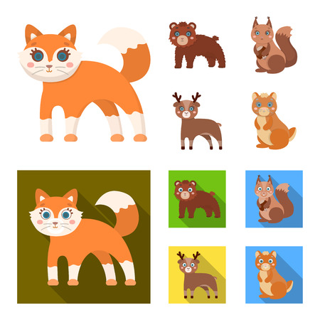 Zoo, nature, reserve and other web icon in cartoon,flat style.Artiodactyl, nature, ecology, icons in set collection.