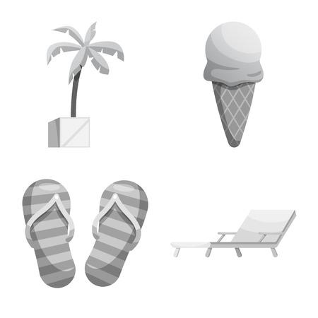 プールと水泳のロゴの孤立したオブジェクト。Web のプールおよびアクティビティのシンボルのコレクション。
