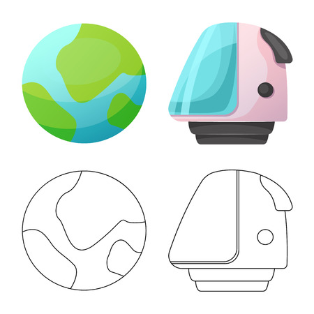 Isolated object of mars and space icon. Set of mars and planet stock vector illustration. Stock fotó - 109838681