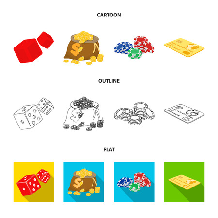 Excitement, recreation, hobby and other web icon in cartoon,outline,flat style.Casino, institution, entertainment, icons in set collection. Stock Photo