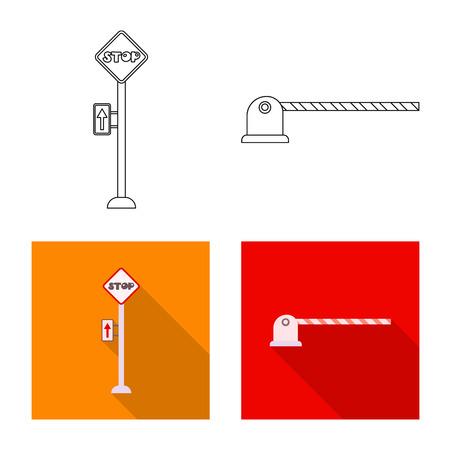 列車と駅の標識のベクトル設計。●列車やチケットのストックベクトルイラストのコレクション。