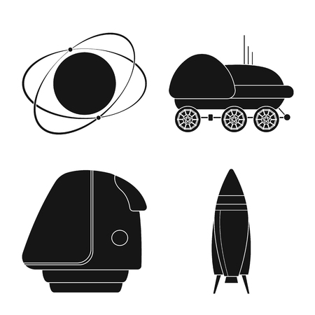 Vector design of mars and space logo. Collection of mars and planet vector icon for stock.