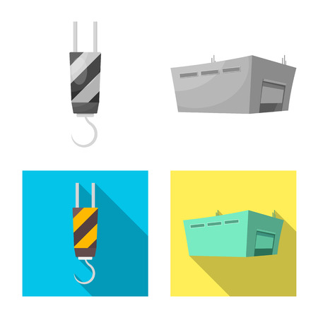 Vector design of goods and cargo symbol. Set of goods and warehouse stock vector illustration.