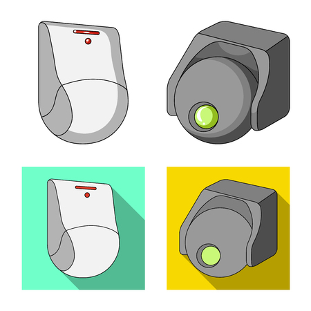 Isolated object of cctv and camera logo. Collection of cctv and system vector icon for stock.