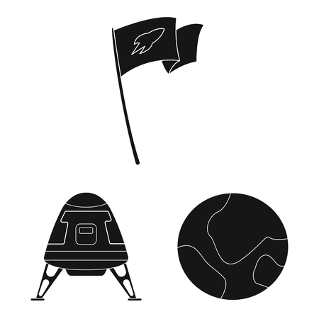 Vector illustration of mars and space symbol. Collection of mars and planet vector icon for stock. Illustration