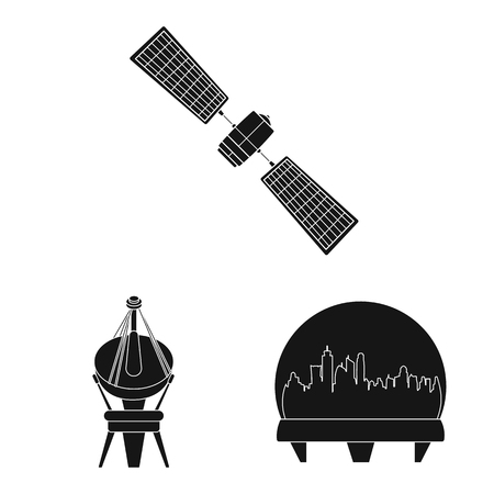 Vector design of mars and space sign. Collection of mars and planet stock vector illustration.