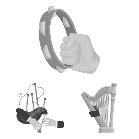 Manipulation by hands monochrome icons in set collection for design. Hand movement bitmap symbol stock web illustration.