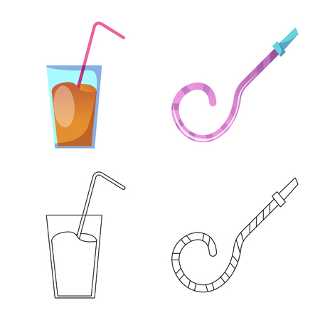 Isolated object of party and birthday icon. Set of party and celebration vector icon for stock. Ilustração