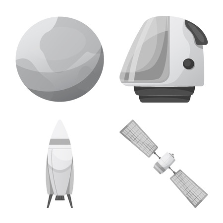 Vector design of mars and space sign. Collection of mars and planet vector icon for stock. Illustration