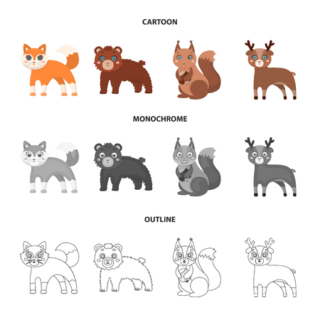 Zoo, nature, reserve and other web icon in cartoon,outline,monochrome style.Artiodactyl, nature, ecology, icons in set collection. Stock Photo