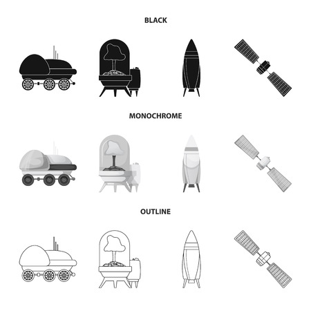 Vector illustration of mars and space sign. Collection of mars and planet vector icon for stock. Illustration