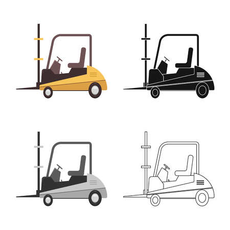 Vector illustration of goods and cargo icon. Collection of goods and warehouse stock vector illustration. Illustration