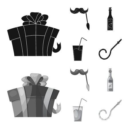 Isolated object of party and birthday icon. Set of party and celebration vector icon for stock. 일러스트
