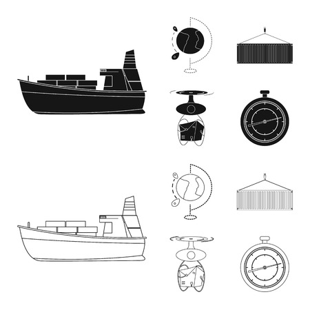 Isolated object of goods and cargo icon. Collection of goods and warehouse stock vector illustration.