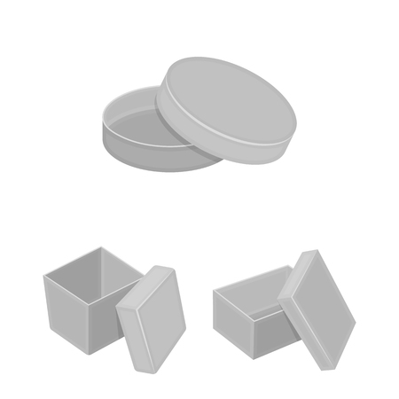 Different boxes monochrome icons in set collection for design.Packing box bitmap symbol stock web illustration.