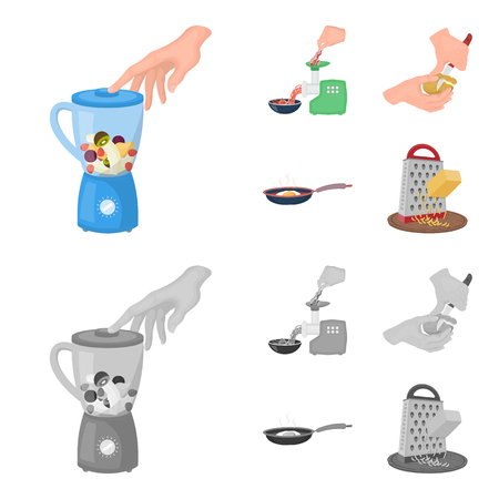 equipment, appliances, appliance and other web icon in cartoon,monochrome style., cook, tutsi. Kitchen, icons in set collection. Stockfoto