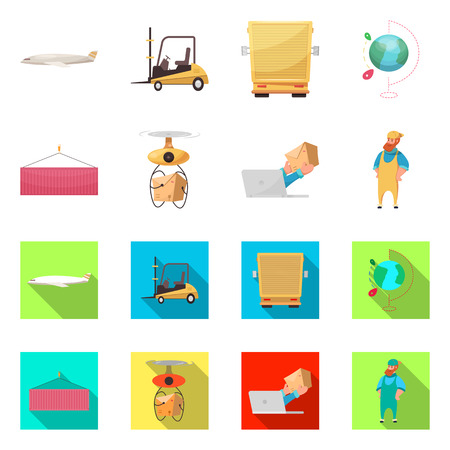 Vector design of goods and cargo icon. Collection of goods and warehouse stock vector illustration. Illustration