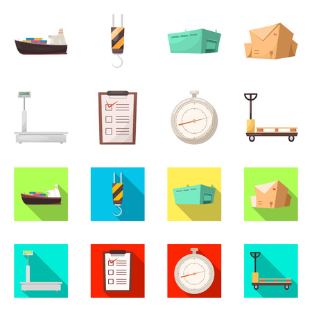 Vector design of goods and cargo sign. Set of goods and warehouse vector icon for stock.