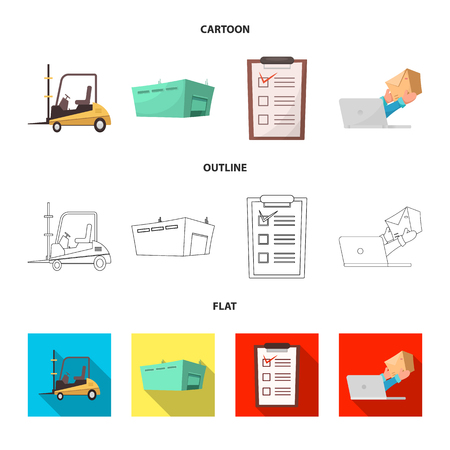 Vector design of goods and cargo logo. Set of goods and warehouse vector icon for stock.