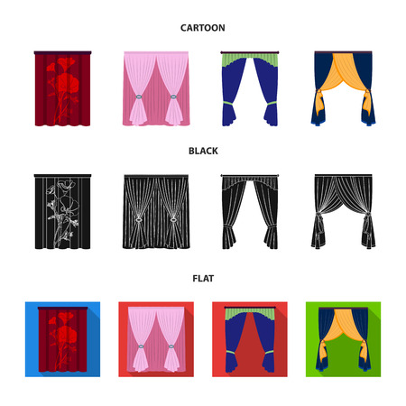 Cornices, garters, ribbon and other web icon in cartoon,black,flat style.Machine, textiles, furniture icons in set collection.