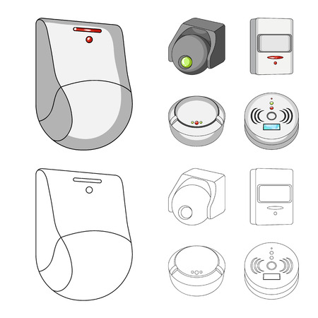 Vector design of cctv and camera symbol. Collection of cctv and system vector icon for stock. Stock Illustratie