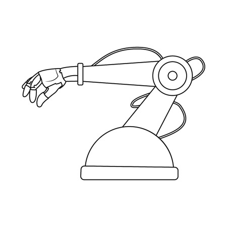 Isolated object of robot and factory sign. Set of robot and space stock vector illustration. Ilustración de vector