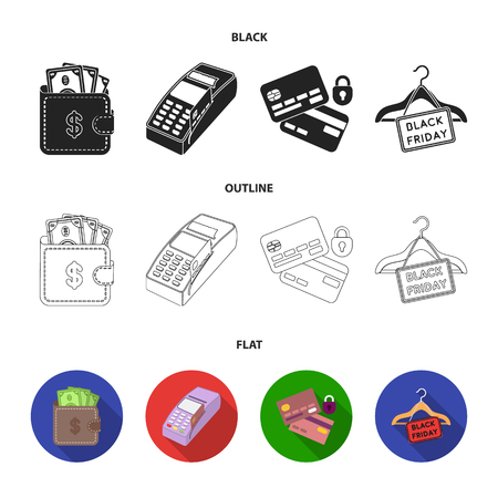 Purse, money, touch, hanger and other equipment. E commerce set collection icons in black,flat,outline style bitmap symbol stock illustration web.