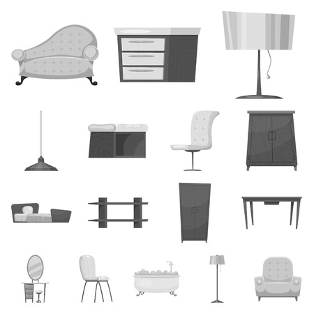 Set of furniture and home stock symbol for web