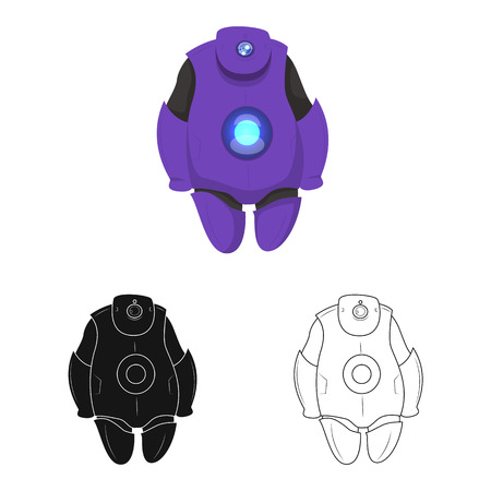 Isolated object of robot and factory symbol. Set of robot and space stock symbol for web.