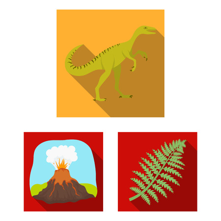 Different dinosaurs flat icons in set collection for design. Prehistoric animal bitmap symbol stock web illustration.