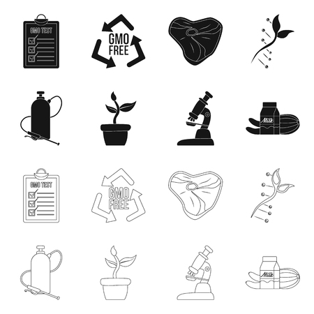 Vector design of  and  sign. Collection of  and  stock vector illustration.