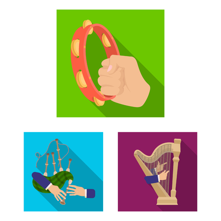Manipulation by hands flat icons in set collection for design. Hand movement bitmap symbol stock web illustration.