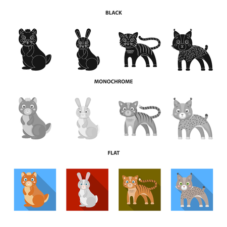 Animals, domestic, wild and other web icon in black, flat, monochrome style. Zoo, toys, children, icons in set collection.