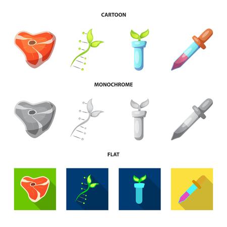 Vector design. Set of  and  stock vector illustration. Vettoriali