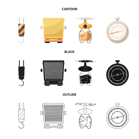 Vector illustration of goods and cargo logo. Collection of goods and warehouse stock symbol for web.