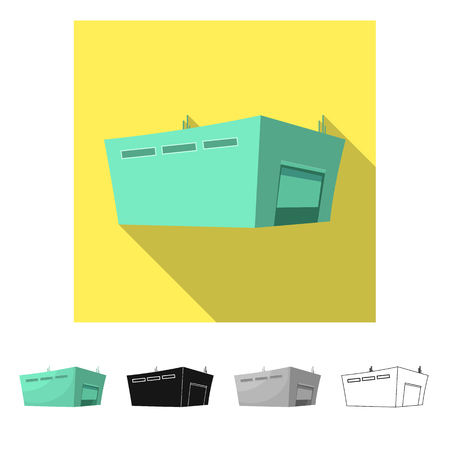 Vector design of goods and cargo logo. Collection of goods and warehouse stock vector illustration.
