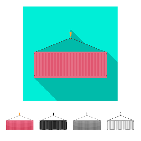 Vector design of goods and cargo logo. Set of goods and warehouse vector icon for stock. Banco de Imagens - 111991220