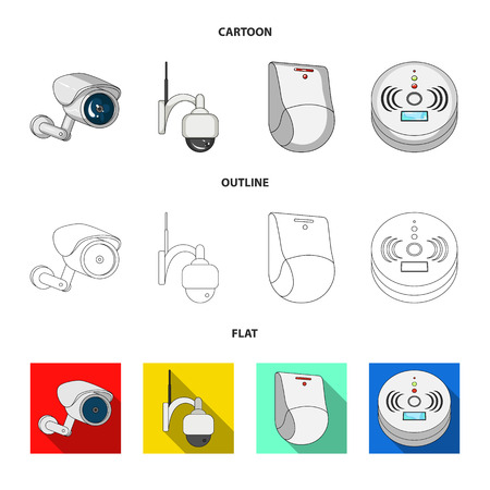Vector design of cctv and camera icon. Set of cctv and system stock symbol for web. Illustration