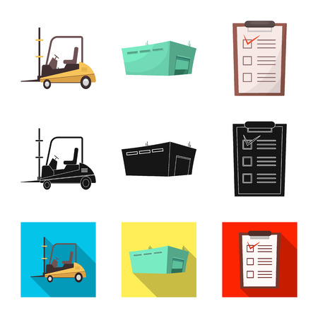 Isolated object of goods and cargo symbol. Collection of goods and warehouse stock symbol for web.