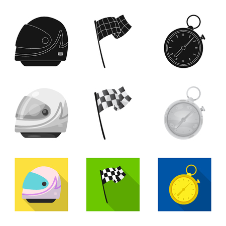 Isolated object of car and rally symbol. Collection of car and race vector icon for stock.