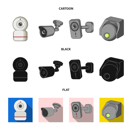 Vector design of cctv and camera logo. Set of cctv and system vector icon for stock.