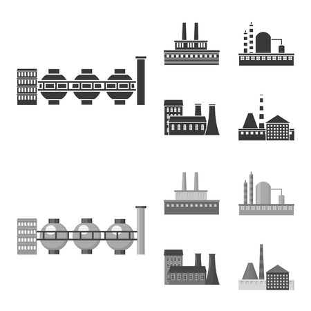 Industry, production.Factory set collection icons in black,monochrom style bitmap symbol stock illustration web.